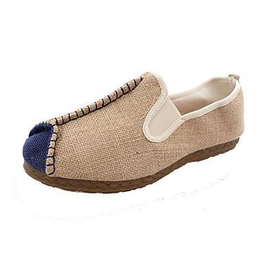 Homens Sapatos Confortáveis Lona Verão Casual Mocassins e Slip-Ons Respirável Estampa Colorida Azul / Bege