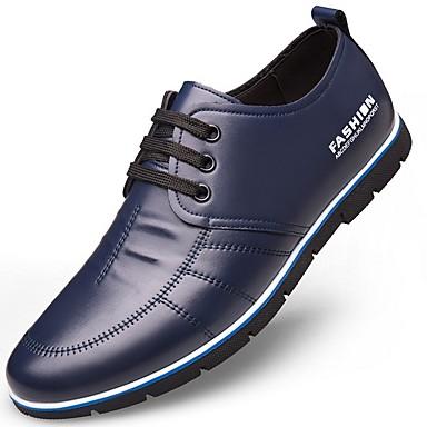 abordables Oxfords Homme-Homme Chaussures derby Automne / Hiver Simple Quotidien Oxfords Microfibre Ne glisse pas Preuve de l'usure Bleu / Marron / Noir Slogan