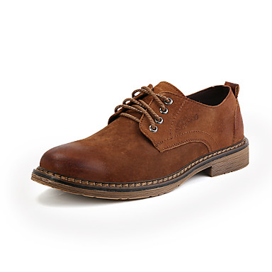 Homens Sapatos formais Couro Ecológico Primavera / Outono Negócio / Casual Oxfords Caminhada Preto / Marron / Cinzento