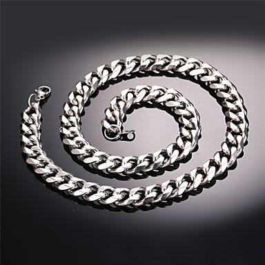 levne Dámské šperky-Pánské Řetízky Kubánský odkaz Námořní řetěz Módní Hip Hop Nerez Černá Zlatá Stříbrná 55 cm Náhrdelníky Šperky 1ks Pro Dar Denní