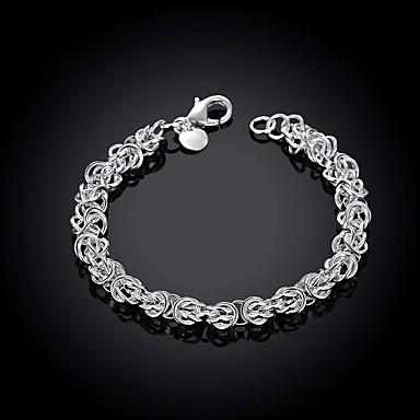 levne Pánské šperky-Pánské Řetězové & Ploché Náramky Vystřižený Drahocenný Jednoduchý Módní Mosaz Náramek šperky Stříbrná Pro Denní Práce / Postříbřené