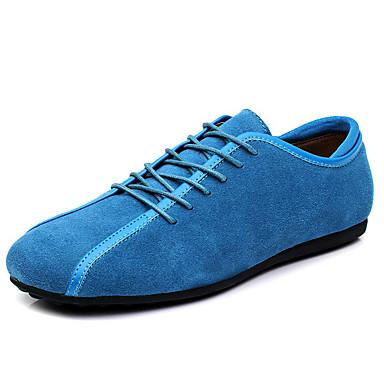 Homens Sapatos de couro Couro Ecológico Verão Oxfords Preto / Azul / Azul Escuro / Ao ar livre