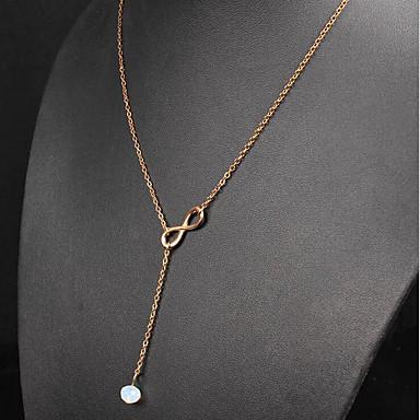 levne Dámské šperky-Dámské Křišťál Náhrdelníky s přívěšky Klasika Rakam Módní Pozlacené Zlatá 45 cm Náhrdelníky Šperky 1ks Pro Denní Práce