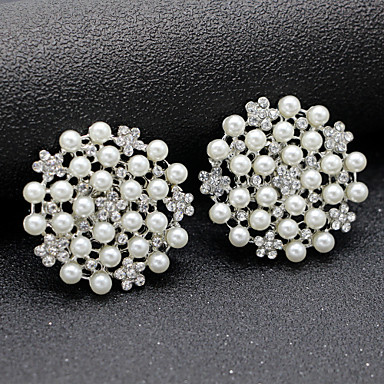 cheap Foot/Shoe Accents-2pcs Rhinestones Decorative Accent Women's All Seasons Wedding Silver