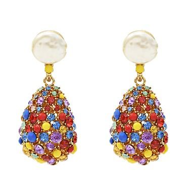 povoljno Modne naušnice-Žene Viseće naušnice XOXO Imitacija bisera Naušnice Jewelry Duga Za Dnevno 1 par