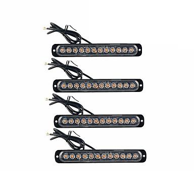 povoljno Motori i quadovi-4pcs bočno svjetlo kamiona ultra tanka bočna bljeskalica 12led signalno svjetlo upozorenja 12v-24v