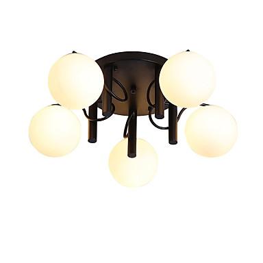 JSGYlights 5-luz Grupo / Esfera Apliques de Tecto Luz Ambiente Acabamentos Pintados Metal Vidro Novo Design 110-120V / 220-240V / E26 / E27