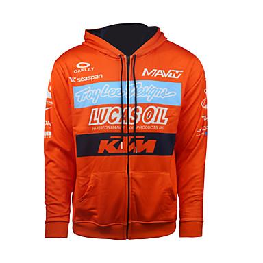 billige Motorsykkeljakker-2017 ny ktm genser motorsykkel lokomotiv casual rytterdrakt fleece varm genserjakke offroad ridegenser mannlig oransje