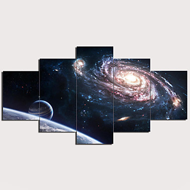 Novelty Nebula Night 3D Graphic Printing Multi-Functional Canvas Coin Purse