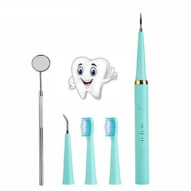 Kit limpador de dentes dentes branqueamento manchas de limpeza removedor de raspador espelho dental escova de dentes de alta freqüência vibração