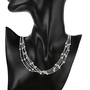 levne Dámské šperky-Dámské Náhrdelníky s přívěšky Geometrické Gypsophila Módní Postříbřené Stříbrná 50 cm Náhrdelníky Šperky 1ks Pro Denní Street