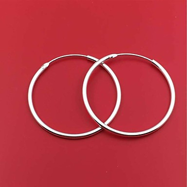 Silver Minimalist Cat Tail Earrings Pair Half Hoop Design