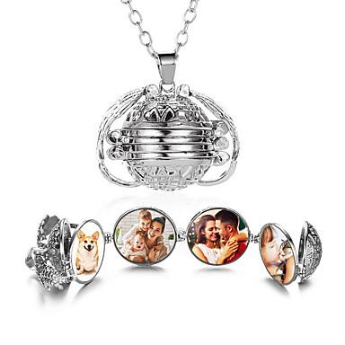 levne Pánské šperky-Pánské Dámské Bílá Náhrdelník Geometrické Srdce Casual / Sportovní Chrome Růžové zlato Zlatá Stříbrná 45 cm Náhrdelníky Šperky 1ks Pro Dar