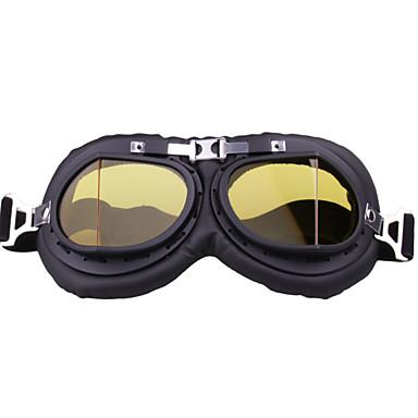 preiswerte Motorradhelme-einzigartige vintage motorradbrille motocross pilot reitbrille für outdoor rahmen coloryellow