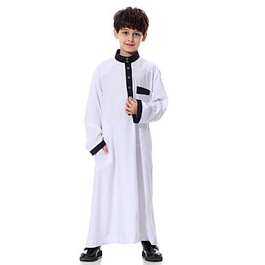 preiswerte Tops für Jungen-Kinder Jungen Grundlegend Solide Langarm Bluse Weiß