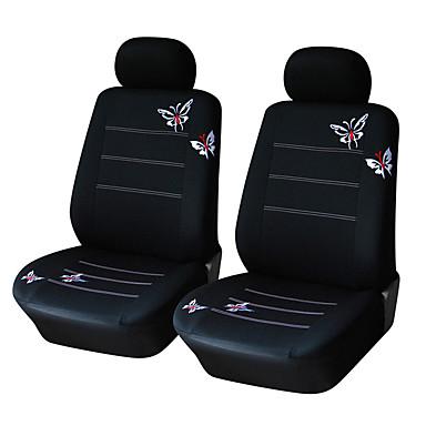 billige Interiørtilbehør til bilen-sommerfugl brodert bilsete deksel universelt passform kjøretøy seter interiør tilbehør-4stk / sett (2 setetrekk foran)