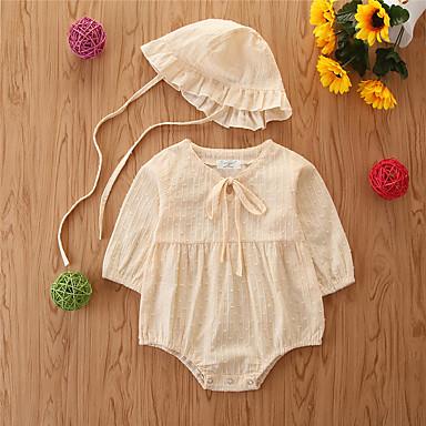povoljno Odjeća za bebe-Dijete Djevojčice Osnovni Jednobojni Dugih rukava bodysuit Zlato