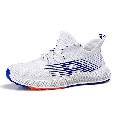 Homens Sapatos Confortáveis Com Transparência Verão Tênis Caminhada Preto / Branco / Bege