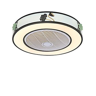 QINGMING® Circular / Mini Ventilador de teto Luz Ambiente Acabamentos Pintados Metal Estilo Mini, Tricolor 110-120V / 220-240V Branco quente + branco