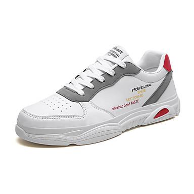 Homens Sapatos Confortáveis Com Transparência Outono / Primavera Verão Esportivo / Casual Tênis Corrida Respirável Preto / Branco / Absorção de choque