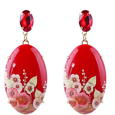 povoljno Modne naušnice-Žene Viseće naušnice Vintage Style Cvijet Smola Naušnice Jewelry Crvena Za Dnevno Festival 1 par