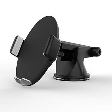 voordelige Auto-interieur accessoires-slimme auto draadloze oplader qc3.0 mobiele telefoonhouder modellenbruin (draadloos opladen desktop)