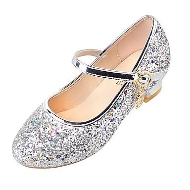preiswerte Schuhe für Kinder-Mädchen Schuhe für das Blumenmädchen PU High Heels Kleine Kinder (4-7 Jahre) Kristall Silber / Blau / Rosa Sommer
