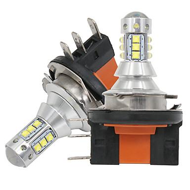 cheap Daytime Running Lights-2pcs H15 LED Bulb High Power 6000K White 18SMD 3030 For Daytime Running Lights Fog Lamp Replacement Bulb 6000-6500K Pure White 12v