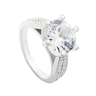 billige Motering-Dame Ring 1pc Hvit Kobber Sirkelformet Grunnleggende Koreansk Mote Daglig Smykker