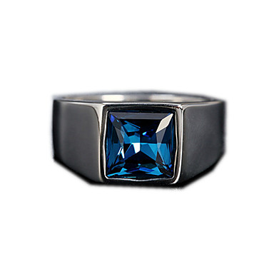 voordelige Herensieraden-Heren Bandring Ring 1pc Rood Blauw Donkerrood Titanium Staal Cirkelvormig Vintage Standaard Modieus Dagelijks Sieraden