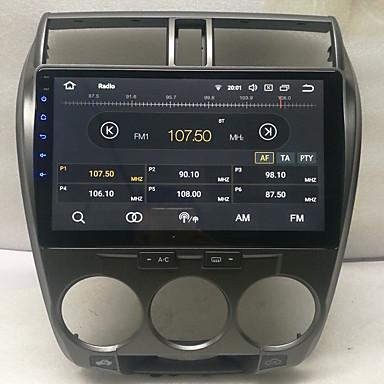 billige Bil Elektronikk-10,2 tommers android 8,0 2g 16g quad core gps navigator berøringsskjerm bil mp5 spiller for honda city 2008-2012