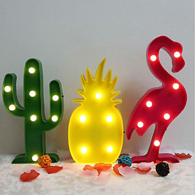 cheap Gifts & Decorations-Flamingo Cactus Pineapple Decoration Table Lamp 1pc