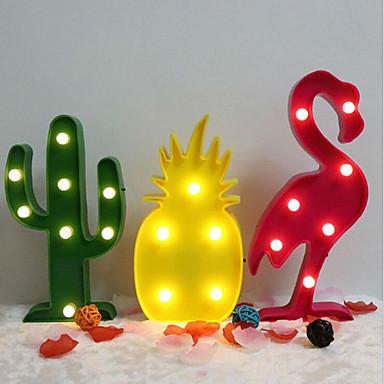 billige Festsuvenirer og gaver-flamingo kaktus ananas dekorasjon bordlampe 1 stk