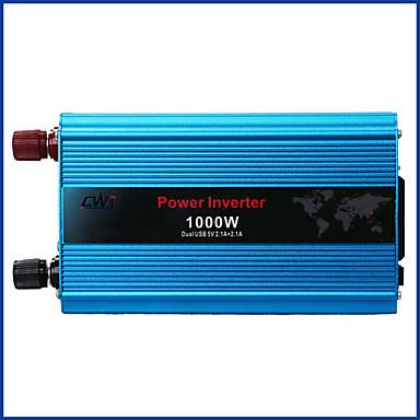 billige Strøminverterer-1000w dobbelt usb ombord omformer dc 24v til vekselstrøm 220v vekselstrøm omformer