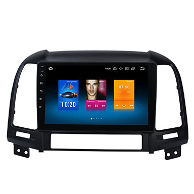 billige Bil Elektronikk-9 tommers android 8,0 bil gps navigator berøringsskjerm 4 gb 32 gb bil multimedia dvd-spiller for hyundai elantra 2000-2006 santa fe 2007-2012