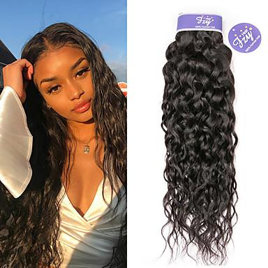 povoljno Ekstenzije od ljudske kose-3 paketa Malezijska kosa Water Wave Remy kosa 100% Remy kose tkanja Bundle Ljudske kose plete Produžetak Bundle kose 8-28 inch Natural Isprepliće ljudske kose Valentine Slatko Kreativan Proširenja