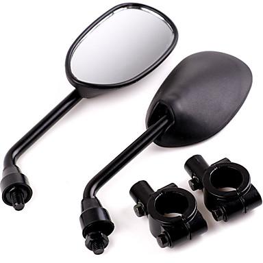 billige Rear View Monitor-2 stk 22mm motorsykkel bakspeil med 2 styrebeslagsklemmer for suzuki yamaha honda