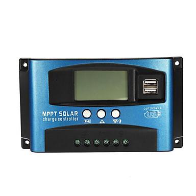 levne Przyrządy zasilane-40a mppt solární regulátor lcd solární regulátor přesnost duální usb solární panel regulátor baterie - 40a