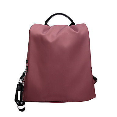 Prova-de-Água Náilon Ziper mochila Côr Sólida Escola Preto / Rosa / Khaki / Outono & inverno