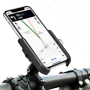 billige Sykkeltilbehør-Telefonstativ til sykkel Bærbar Justerbare / Uttrekkbar Anti-Skli til Vei Sykkel Fjellsykkel Foldesykkel Aluminum Alloy iPhone X iPhone XS iPhone XR Sykling Svart Svart / Rød Sølv