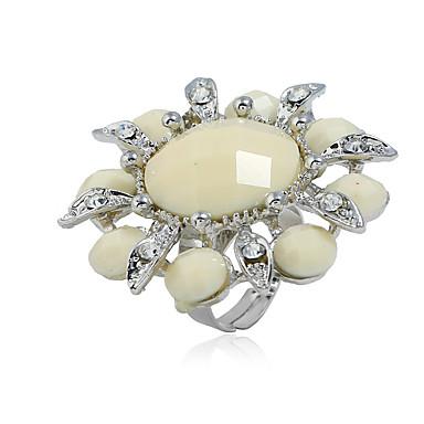 billige Motering-Dame Ring Justerbar ring 1pc Hvit Brun Harpiks Legering Luksus Klassisk Vintage Daglig Skole Smykker
