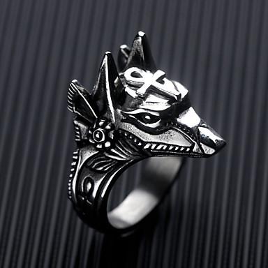 billige Motering-Herre Band Ring 1pc Gull Sølv Rustfritt Stål Det gamle Egypt Fest Daglig Smykker Klassisk Dyrebar
