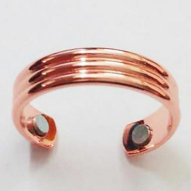 levne Pánské šperky-Pánské Otevřete kruh Nastavitelný kroužek 1ks Černá Růžové zlato Měď Pozlacené Geometric Shape Jednoduchý Módní Denní Práce Šperky Klasika Drahocenný Cool