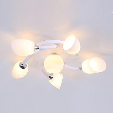 JSGYlights 6-luz Sputnik Apliques de Tecto Luz Ambiente Acabamentos Pintados Metal Vidro Novo Design 110-120V / 220-240V / E26 / E27