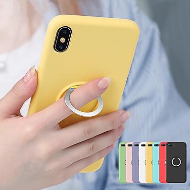 povoljno iPhone maske-Magnetski prsten meka tpu futrola za iphone xs max xr xs x 8 plus 8 7 plus 7 6 plus 6 tekući silikonski zaštitni poklopac
