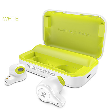 O2 Fone de ouvido sem fio True TWS Sem Fio EARBUD Bluetooth 5.0 Estéreo Com caixa de cobrança