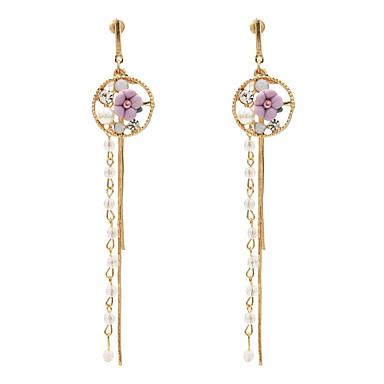 povoljno Modne naušnice-Žene Viseće naušnice Pakiranje Naušnice Jewelry Tirkiz / Light Pink / Obala Za Dnevno 1 par