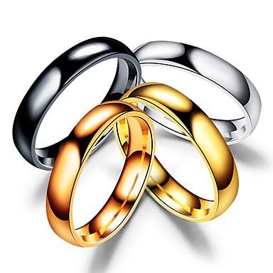 voordelige Herensieraden-Heren Dames Bandring Ring Staartring 1pc Zwart Zilver Goud Rose Roestvast staal Cirkelvormig Vintage Standaard Modieus Dagelijks Sieraden