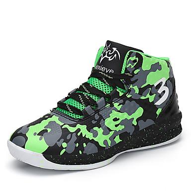 preiswerte Schuhe für Kinder-Jungen Komfort PU Sportschuhe Große Kinder (ab 7 Jahren) Basketball Rot / Grün / Blau Herbst / Tarnfarben / Gummi