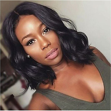 cheap Beauty & Hair-Synthetic Wig Body Wave Style Bob Wig Medium Length Black#1B Synthetic Hair 12 inch Women's Women Synthetic Fashion Black Wig / Yes / For Black Women